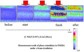 電子線照射下の内部帯電計測